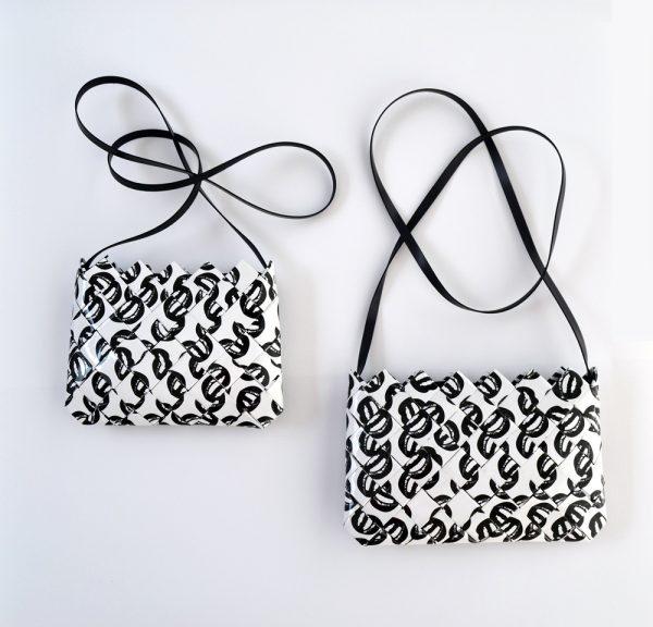 bolso artesano papel ecológico besos