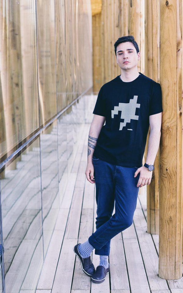 camiseta hombre algodón orgánico pata gallo