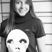 camiseta negra de diseño algodón orgánico