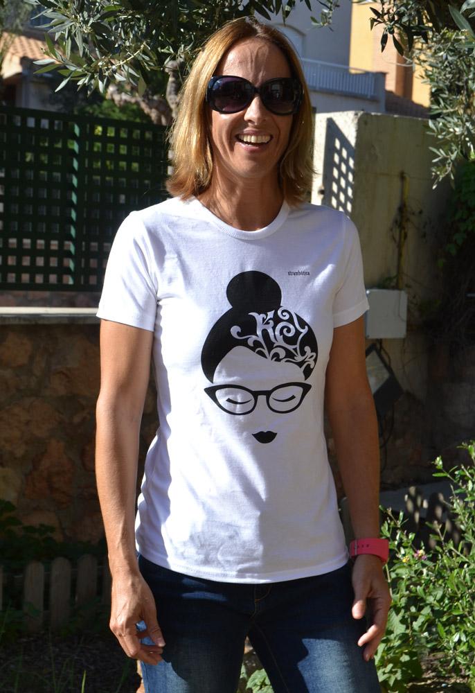 camiseta blanca strambótica algodón orgánico