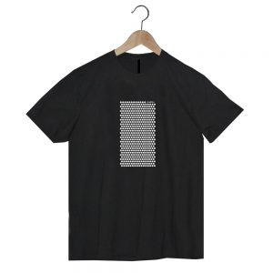 camiseta negra de algodón orgánico