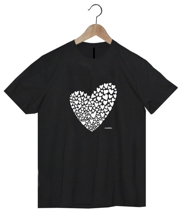 camiseta negra algodón orgánico ecológico diseño