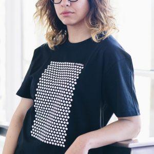 camiseta ecológica lunares