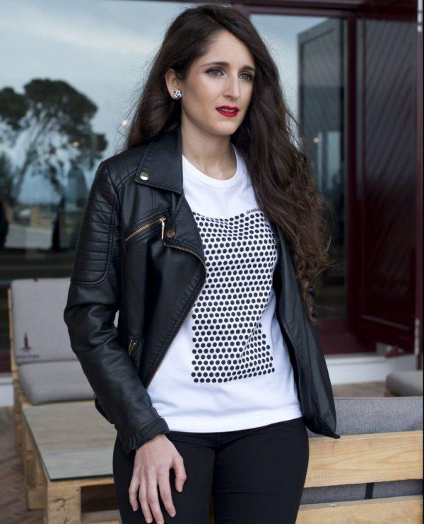 camiseta ecológica mujer lunares