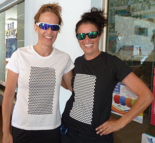 camiseta mujer ecológica lunares