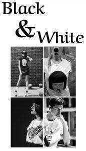 look blanco y negro strambótico