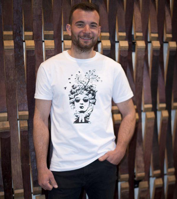camiseta ecológica hombre bird
