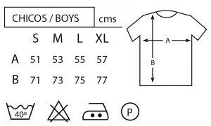 Tallas camisetas hombre strambotica